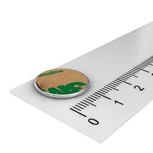 15x1 mm zelfklevende schijfmagneet neodymium