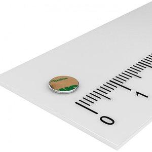 6x1 mm zelfklevende schijfmagneet neodymium