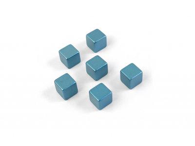 kubus magneten cube medium blauw