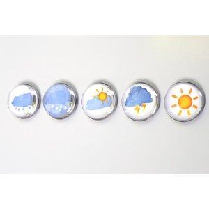 wolken zon regen magneten