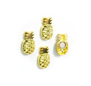 ananas magneten goud