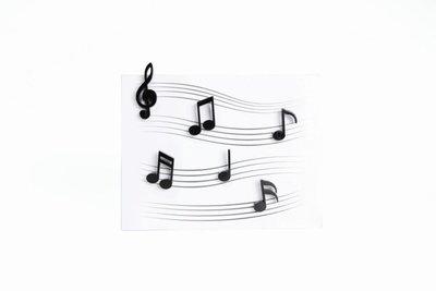 Zwarte muzieknoten magneten